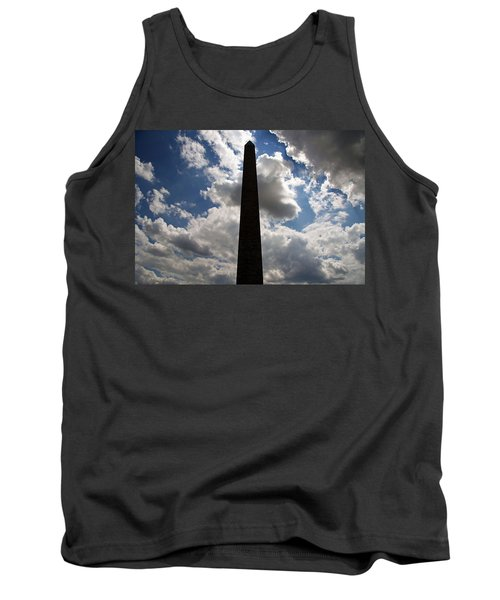 Tank Top featuring the photograph Silhouette Of The Washington Monument by Cora Wandel