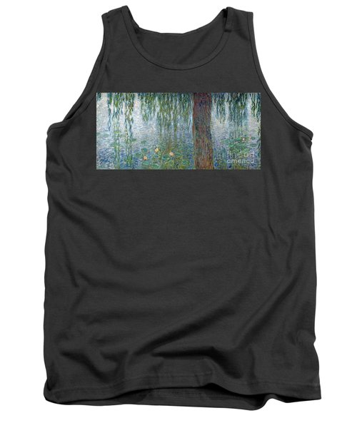 Waterlilies Morning With Weeping Willows Tank Top