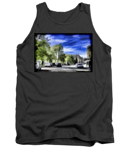 Cars On A Street In Edinburgh Tank Top