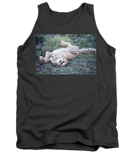 Cheetah Acinonyx Jubatus Resting Tank Top