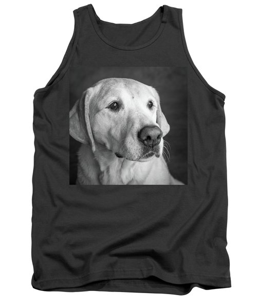 Portrait Of A Golden Labrador Dog Tank Top