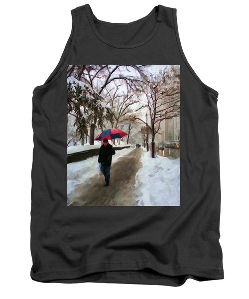 Snowfall In Central Park Tank Top