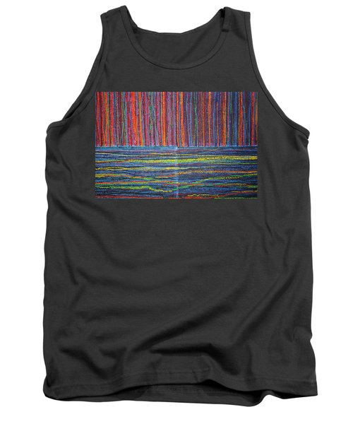 Tank Top featuring the painting Untitled by Kyung Hee Hogg