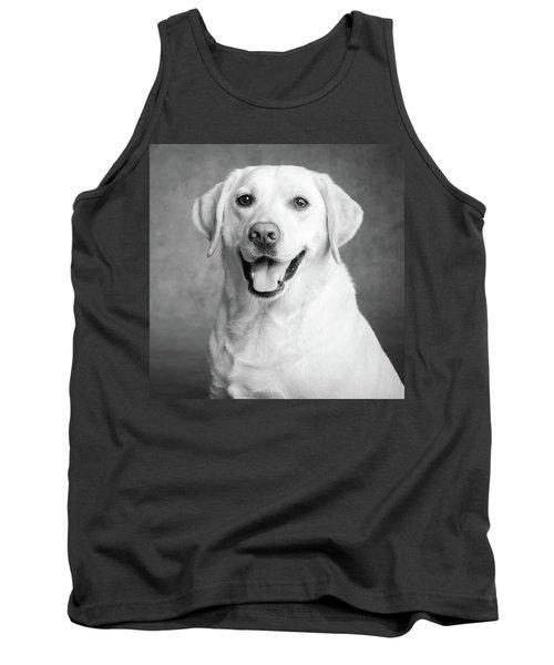 Portrait Of A Yellow Labrador Dog Tank Top
