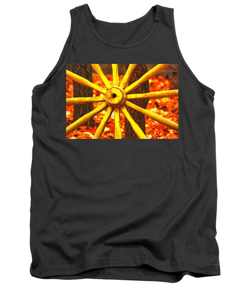 Tank Top featuring the photograph Wheels Of Time by Rowana Ray