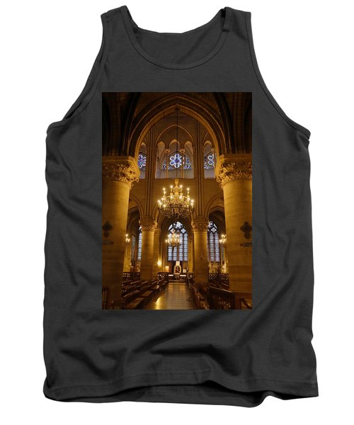 Architectural Artwork Within Notre Dame In Paris France Tank Top