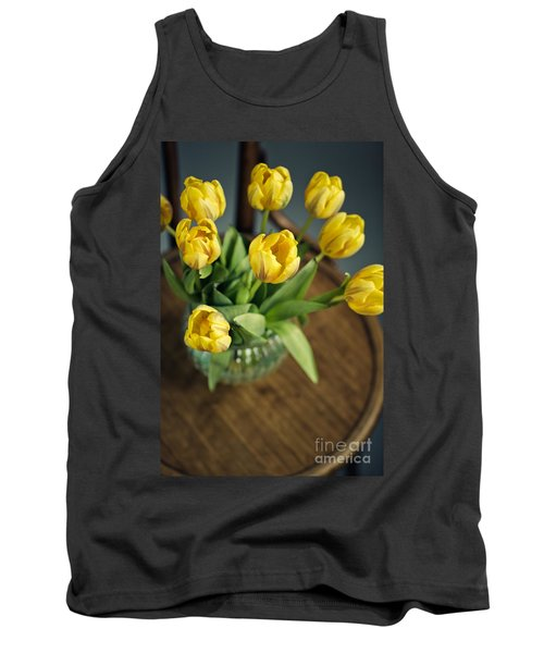 Still Life With Yellow Tulips Tank Top