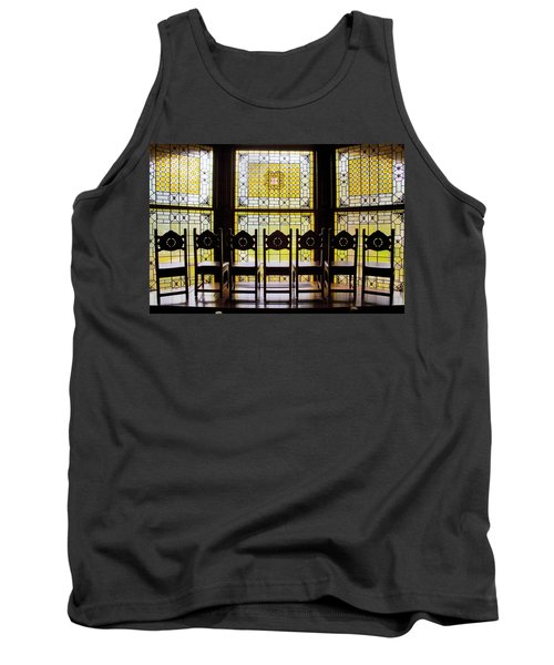 7 Chairs And Stained Glass Tank Top