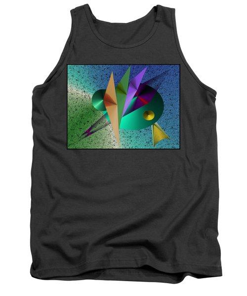 Abstract Bird Of Paradise Tank Top