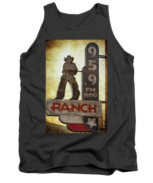 Tank Top featuring the photograph 95.9 The Ranch by Joan Carroll