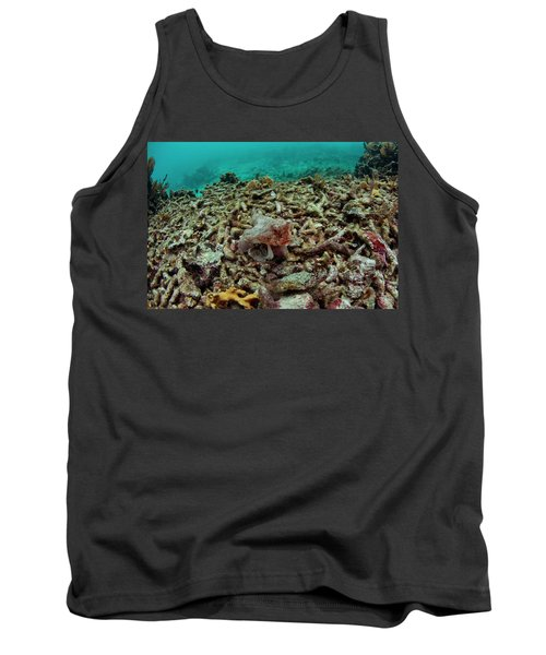 A Batfish Swims By Coral In Glovers Tank Top