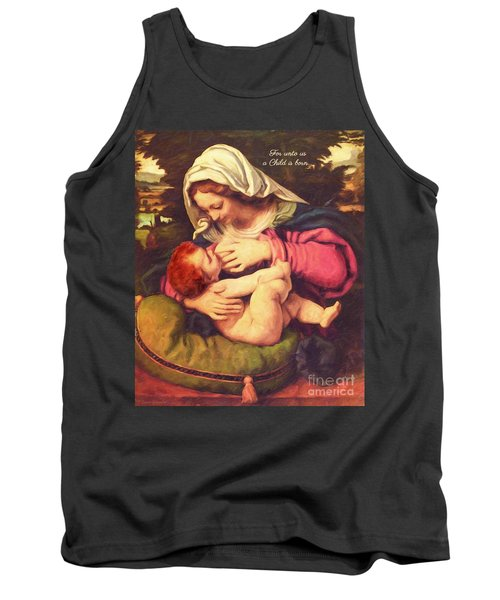 Tank Top featuring the digital art A Child Is Born by Lianne Schneider