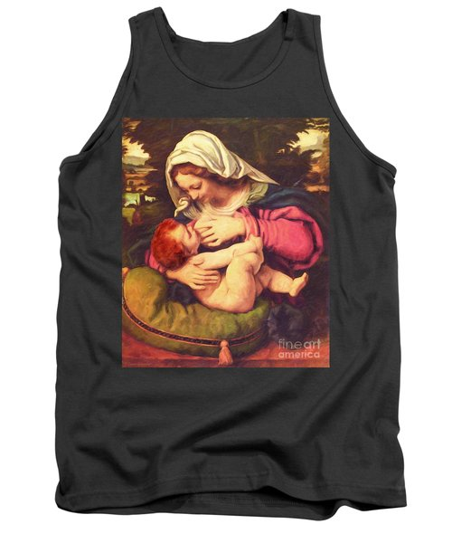 Tank Top featuring the digital art A Child Is Born No Text by Lianne Schneider