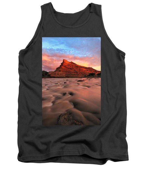 Tank Top featuring the photograph A Chocolate Milk River by Ronda Kimbrow