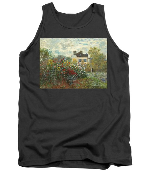 A Corner Of The Garden With Dahlias Tank Top