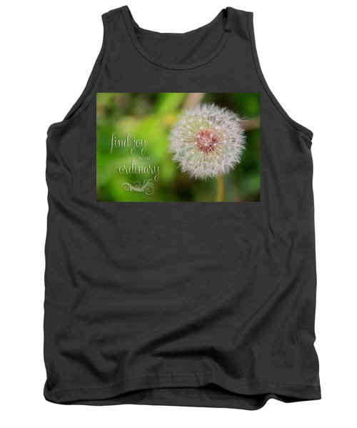 A Dandy Dandelion With Message Tank Top