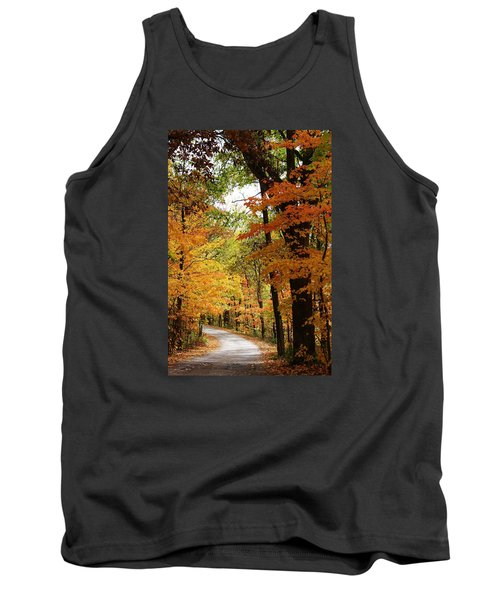 A Drive Through The Woods Tank Top by Bruce Bley