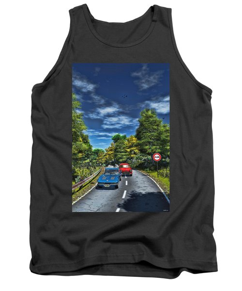 A Game Of Tag Tank Top by Ken Morris
