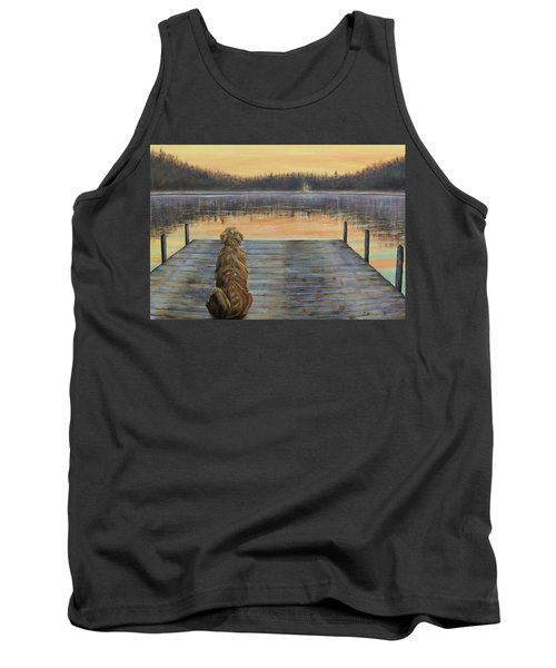 Tank Top featuring the painting A Golden Moment by Susan DeLain