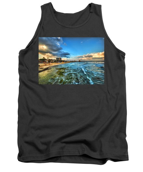 Tank Top featuring the photograph a good morning from Hilton's beach by Ron Shoshani