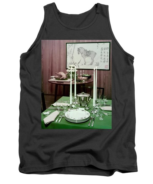A Green Table Tank Top