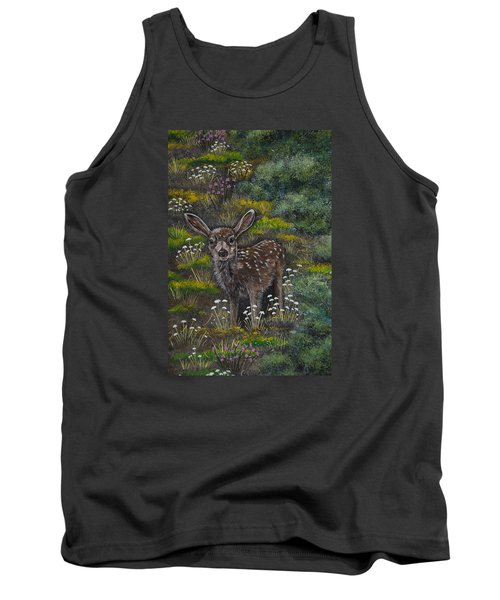 Tank Top featuring the painting A Happy Fawn by Jennifer Lake