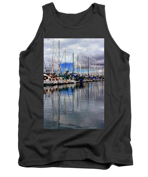 Tank Top featuring the photograph A Hint Of Blue by Heidi Smith