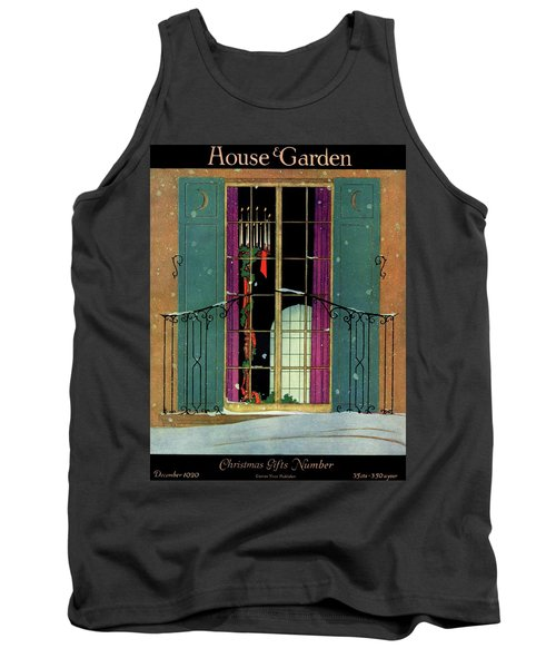A House And Garden Cover Of A Christmas Tank Top