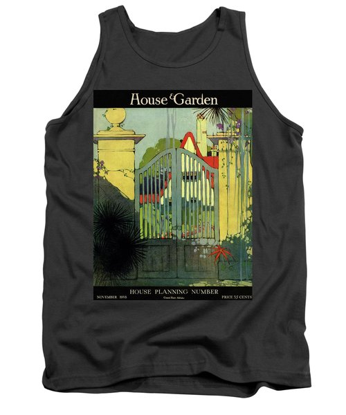 A House And Garden Cover Of A Gate Tank Top