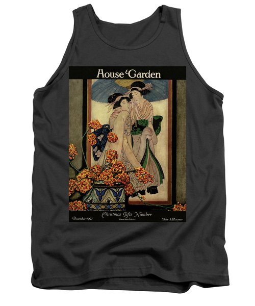 A House And Garden Cover Of A Japanese Print Tank Top