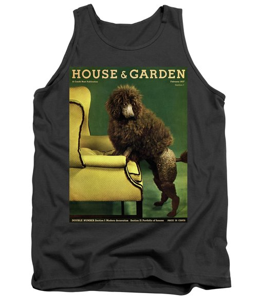 A House And Garden Cover Of A Poodle Tank Top