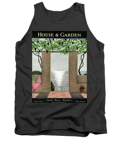 A House And Garden Cover Of A Seaside Patio Tank Top