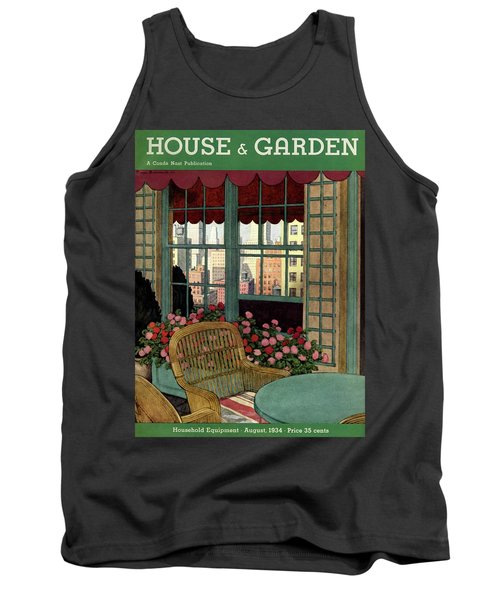 A House And Garden Cover Of A Wicker Chair Tank Top