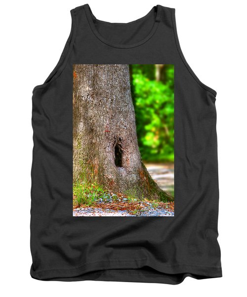 Tank Top featuring the photograph A Little Hiding Place by Ester  Rogers