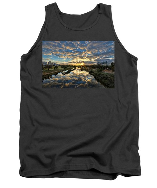 Tank Top featuring the photograph A Magical Marshmallow Sunrise  by Ron Shoshani