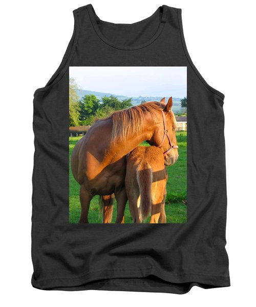 Tank Top featuring the photograph A Mother's Love by Suzanne Oesterling