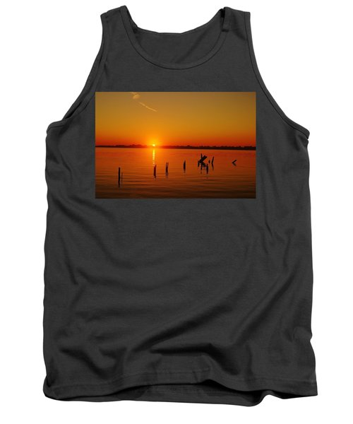 A New Day Dawns... Over Dock Remains Tank Top by Daniel Thompson