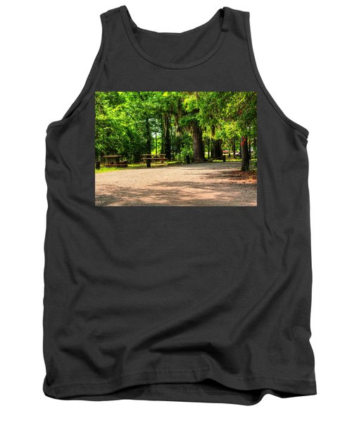 Tank Top featuring the photograph A Place For Picnic by Ester  Rogers