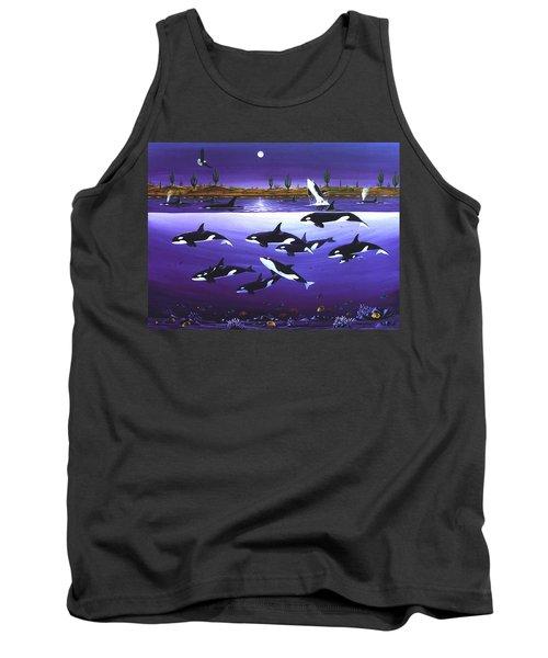 A Pod Of Desert Orcas Tank Top by Lance Headlee