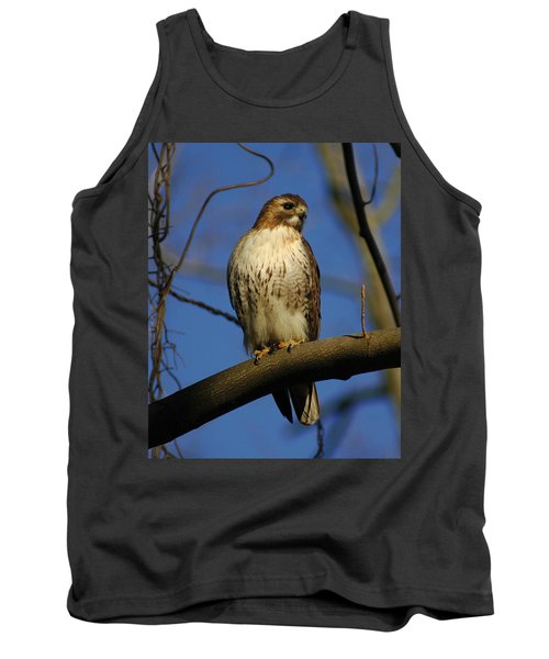 Tank Top featuring the photograph A Red Tail Hawk by Raymond Salani III