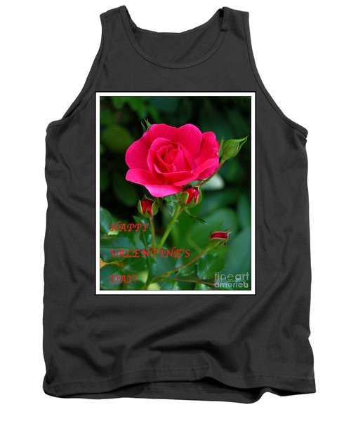 Tank Top featuring the photograph A Rose For Valentine's Day by Mariarosa Rockefeller