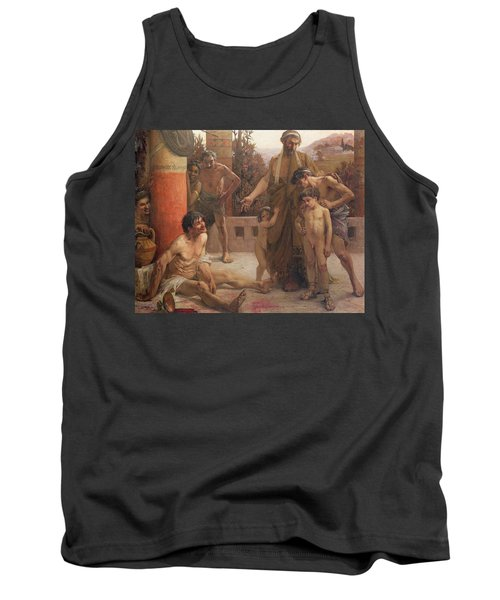 A Spartan Points Out A Drunken Slave To His Sons Tank Top