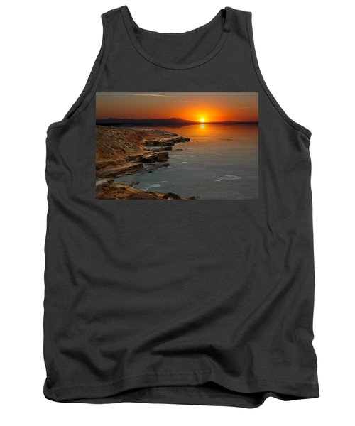 Tank Top featuring the photograph A Sunset by Lynn Geoffroy