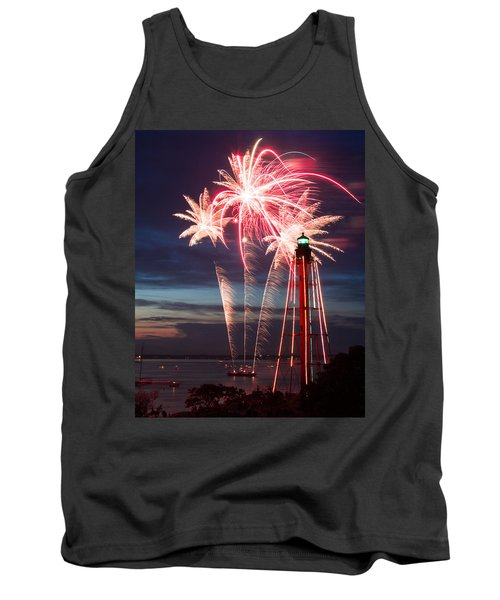 A Three Burst Salvo Of Fire For The Fourth Of July Tank Top by Jeff Folger