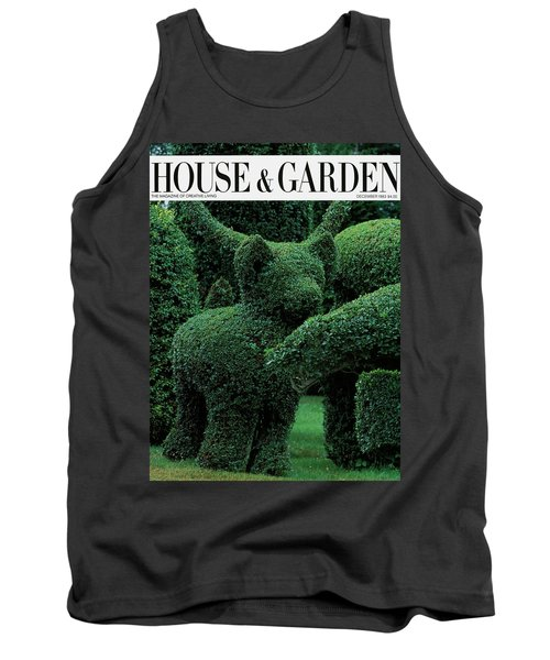 A Topiary Bear In Alice Braytons Green Animals Tank Top