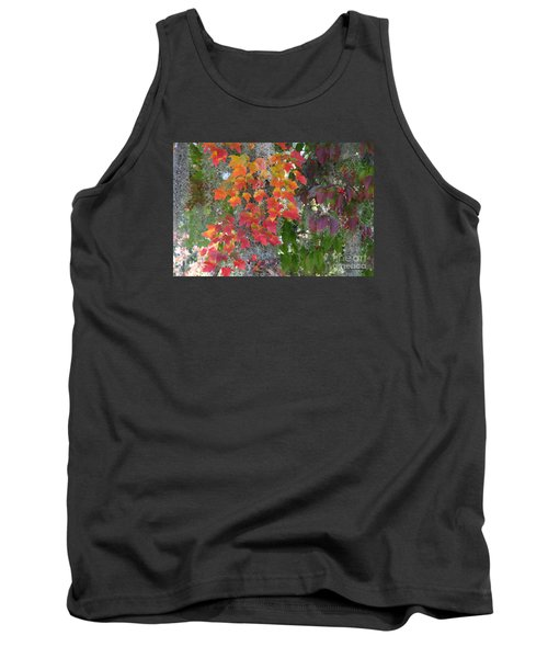 Tank Top featuring the digital art A Touch Of Autumn by Mariarosa Rockefeller