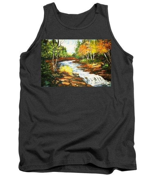 A Winding Creek In Autumn Tank Top