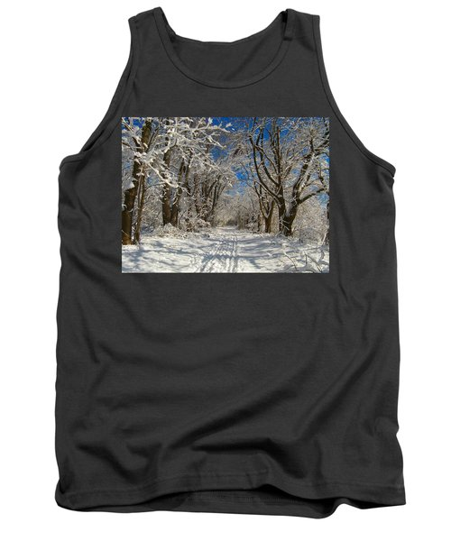 Tank Top featuring the photograph A Winter Road by Raymond Salani III