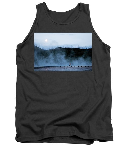 A Woman Practices Yoga At Sunrise Tank Top