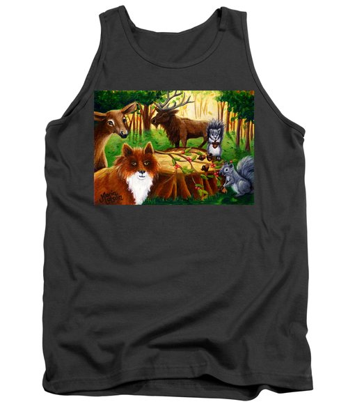 A Woodland Thanksgiving Tank Top